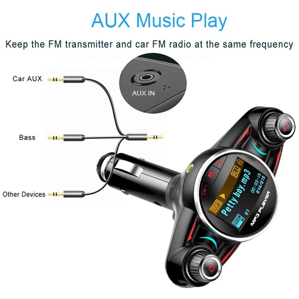 Vehemo беспроводной bluetooth-приемник радио адаптер автомобиля fm-передатчик передатчик напряжение обнаружения Smart Handsfree автомобильной