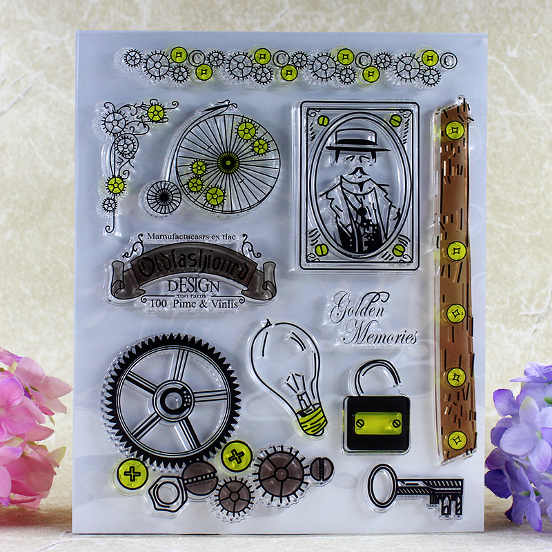 how to use clear stamps for card making