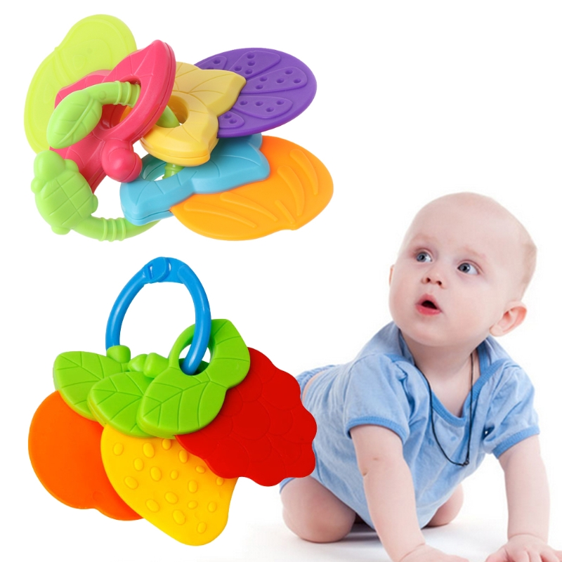 2018 NEW Baby Teether Fruit Shape Silicone Safe Teething Chew Toys Infants Pacifier Gifts