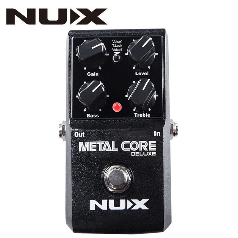 NUX Upgraded Metal Core Deluxe Distortion Guitar Effects Pedal Classic Metal and Modern Extreme Heavy Metal Effect Guitar Pedal caline cp 15 heavy metal guitar pedals 3 band powerful adjustable electronic heavy metal guitar effect pedal