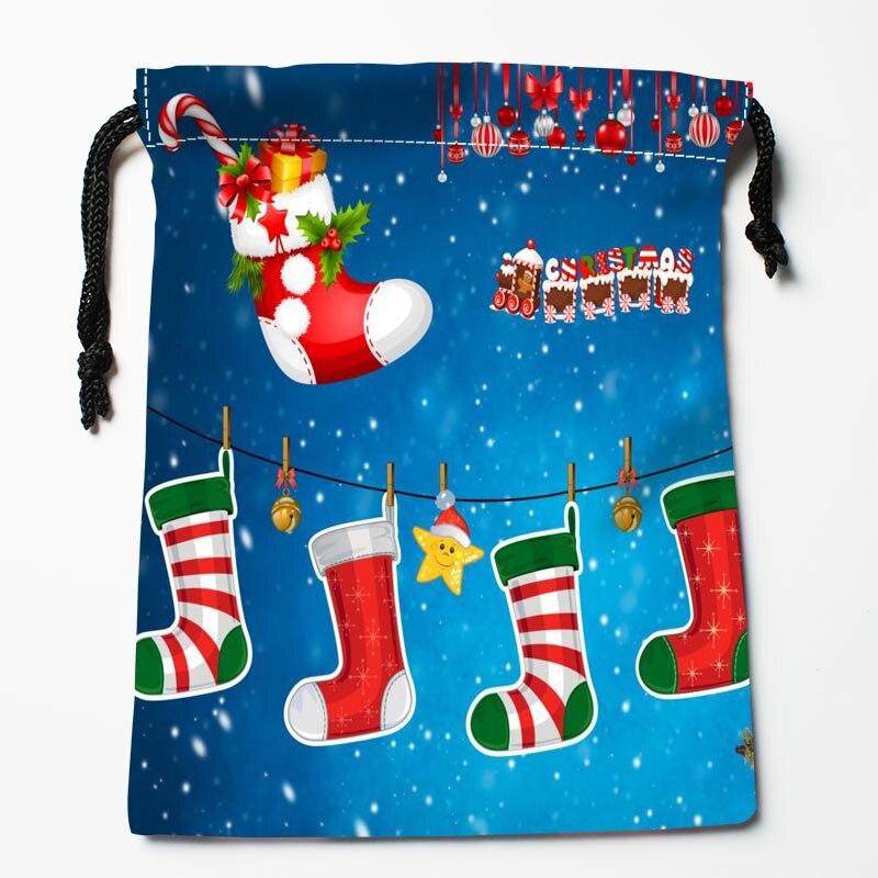 najlepszy merry christmas stocking typ kompresji torby sznurek torby zwyczaj drukowane otrzyma torb rozmiar 18x22 - Custom Christmas Stockings