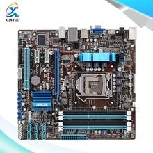 For Asus P7H55-M/USB3 Original Used Desktop Motherboard For Intel H55 Socket LGA 1156 For i3 i5 i7 DDR3 16G SATA3 USB3.0 uATX