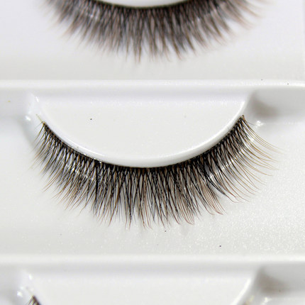 2016 New design 3 pairs /lot 3d-019 Cross Thick False Eye Lashes Extension Makeup Super Natural Long Fake Eyelashes coffee