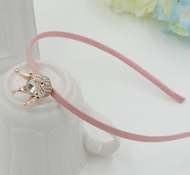 2016 Crown big gem Lace children kids baby girls  princess hair accessories hair bands headwear bow flower wholesale