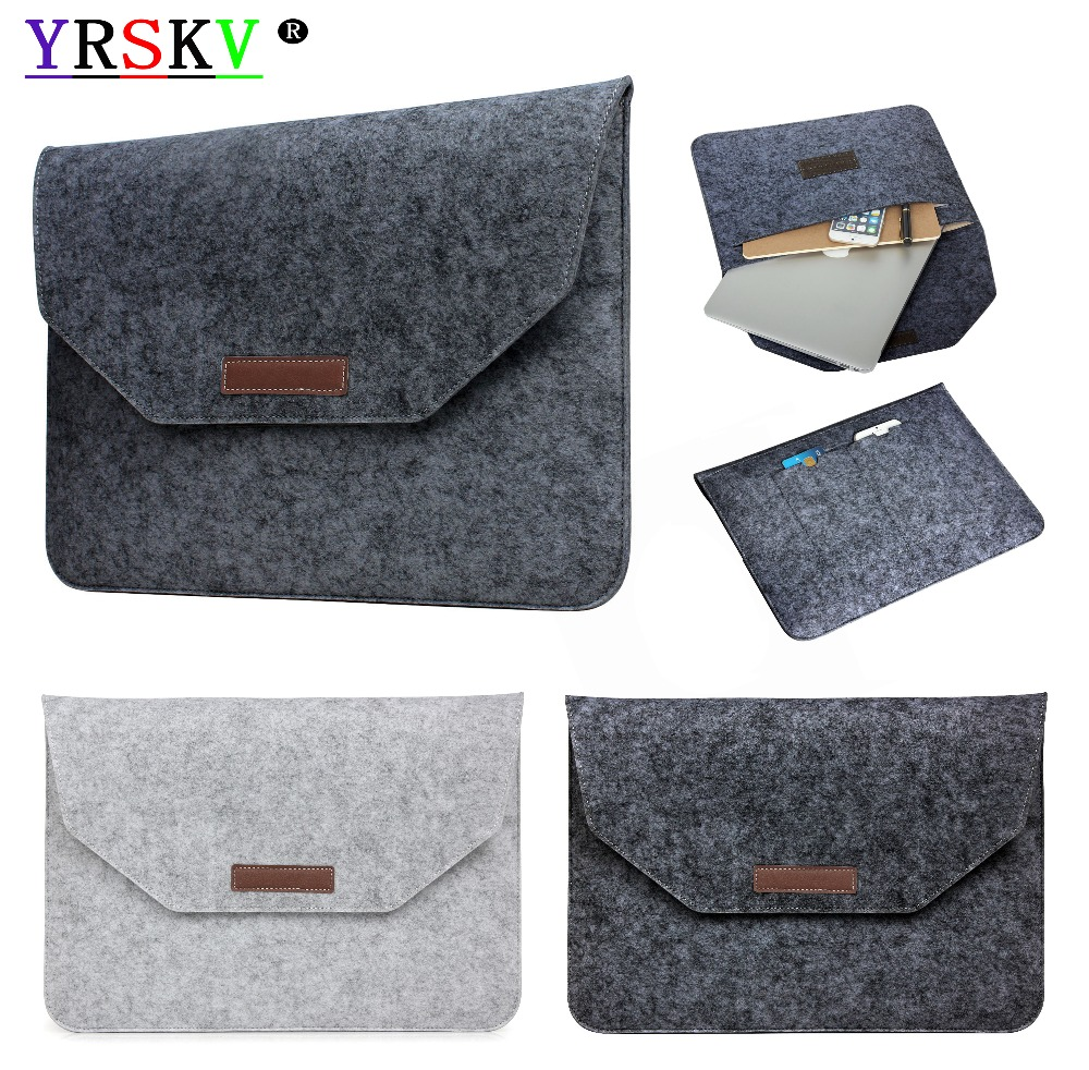 Laptop Felt bag YRSKV Case For Apple Macbook Air,Pro,Retina,11,12,13,15 inch laptop Bags.New Pro 13.315.4with/Non Touch Bar