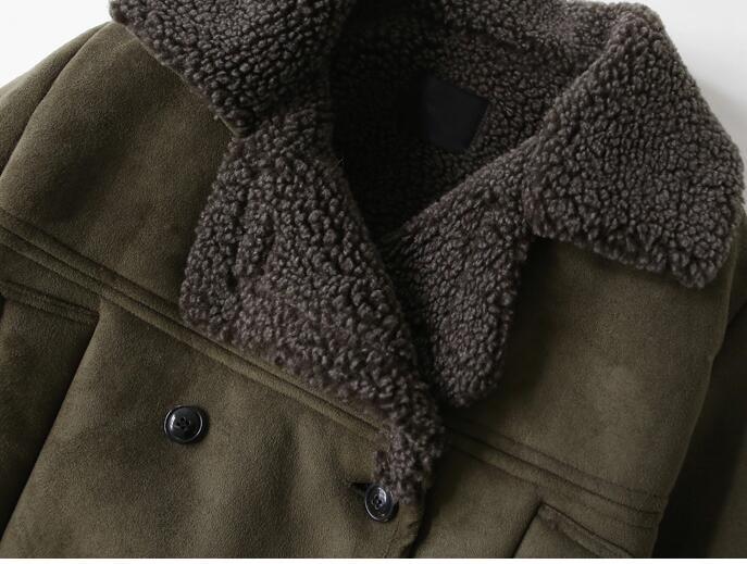 Winterthicke Agneaux Survêtement army La Q950 Parka Green Plus Casual Laine Style Taille Cerf Manteau Femmes Moyen Korea2017autumn Velours Femelle Black Veste d5Hapd