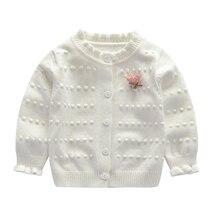 Свитер для маленьких девочек; вязаное пальто для новорожденных