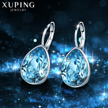 Xuping  Thanksgiving Day Christmas Gifts Crystals from Swarovski Colorful Earrings Charm Women Gifts XE2108