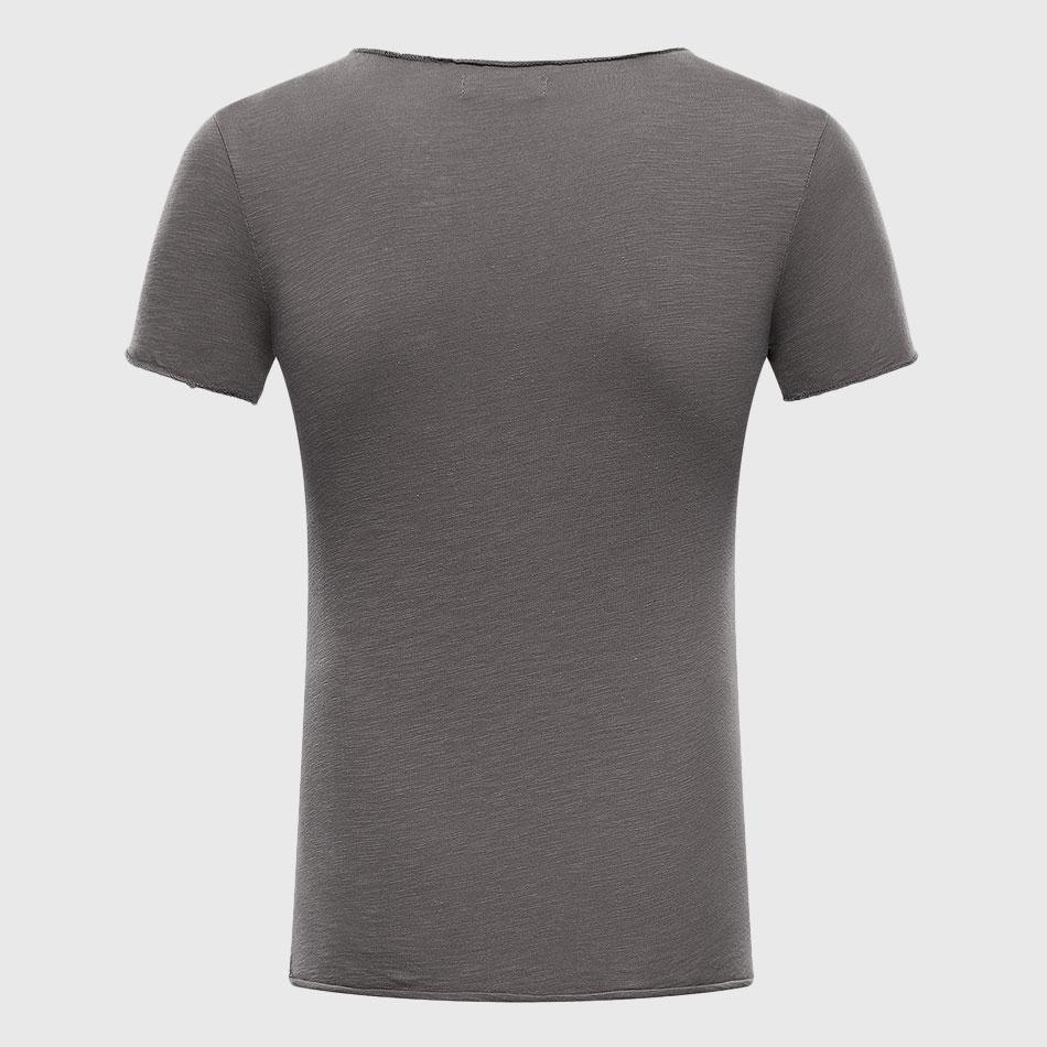 Männer Schädel 3D T Shirts Baumwolle Graphic Tees Tops V-ausschnitt - Herrenbekleidung - Foto 2