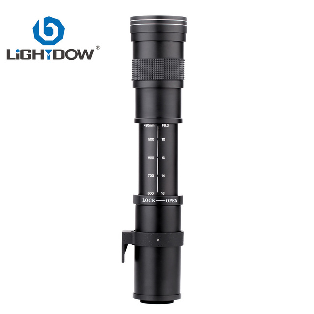 Lightdow 420-800mm F/8.3-16 Super Telephoto Lens Manual Zoom Lens for Canon Nikon Sony Pentax DSLR Camera 6