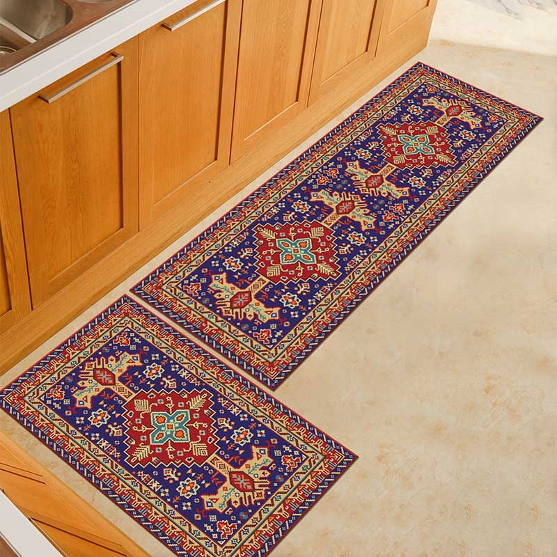 2PCS Kitchen Mats Made With Polyester Material for Modern Kitchen Balcony and Hallway Floor 10