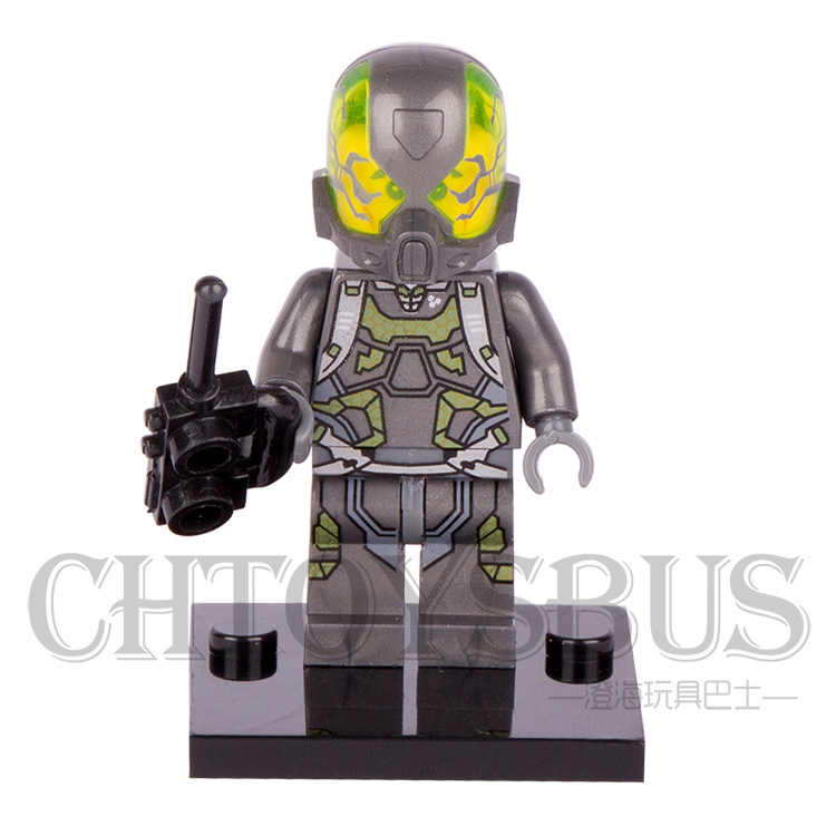 Única Venda Jaqueta Amarela Vespa ANT-MAN Janet van Dyne minifig Marvel Super Heroes Avengers Modelo Blocos de Construção de Brinquedos de Montar