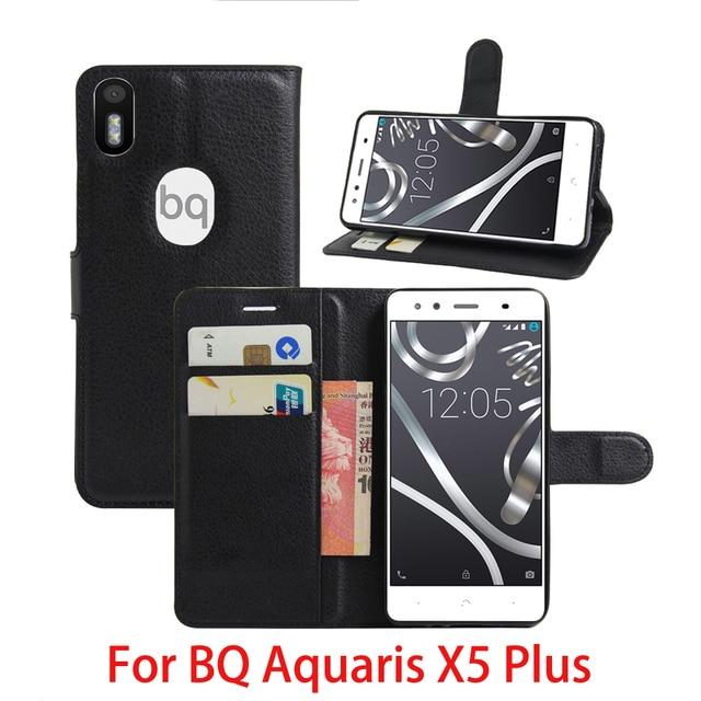 New For BQ Aquaris X5 Plus Case Luxury Flip Leather Stand Case Hight Quality PU Leather Cover For BQ Aquaris X5 Plus