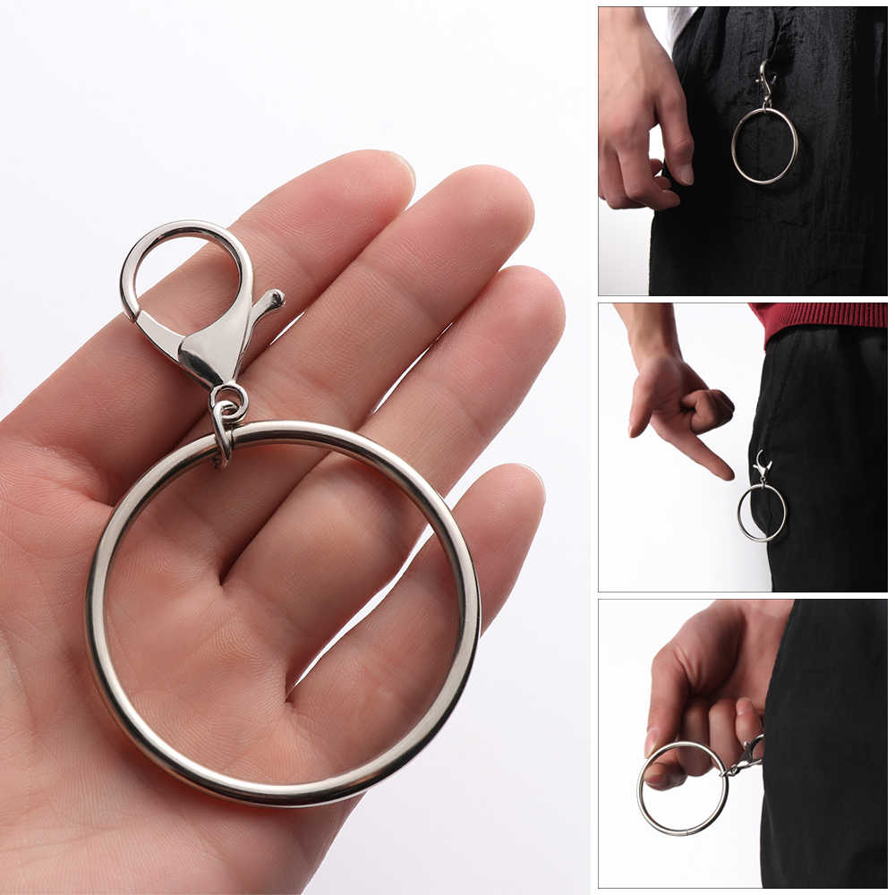 2019 1pc Street Big Ring Key Chain Rock Punk Trousers Hipster Key Chains Pant  Keychain HipHop Fashion Accessories