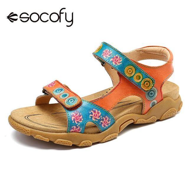 741a10d28694 SOCOFY/мягкие туфли с нахлестом из натуральной кожи; повседневные босоножки  ...