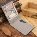 Creative Money Clip Men PU Purse Slight Colorful Wallet 2016 New