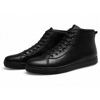 Korea Style Fashion Mens Genuine Leather Waterproof Ankle Boots Comfortable Winter High Quality Men Flats Shoes