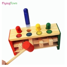 FlyingTown Educational wooden math toys for kids 3 years old children mathematics montessori toddler baby toy