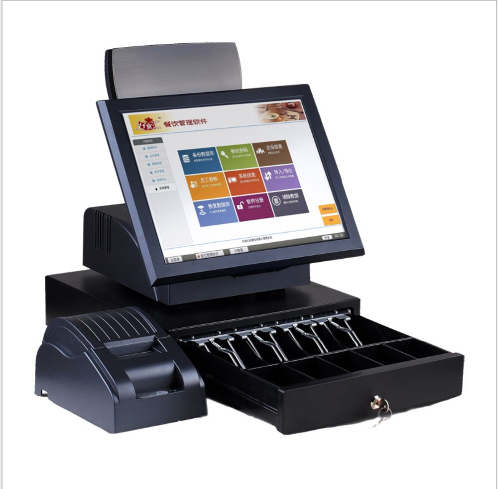 15  Inch Dual Touch Screen Supermarket Electronic Cash Register Machine