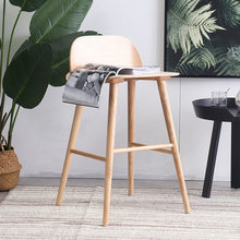 Bar Chair Bar Furniture Commercial Furniture Solid Wood High Bar Chair Fashion Cafe Bar Chair minimalist 2018 hot multi-colors(China)