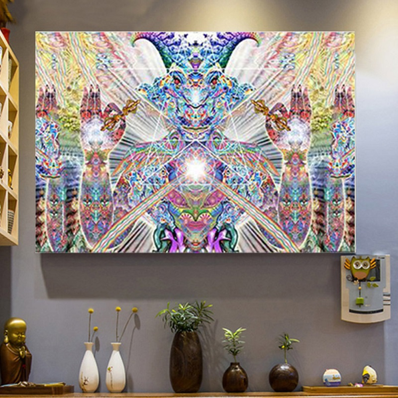 Trippy Home Decor: Trippy Art Silk Fabric Psychedelic Poster Print Abstract