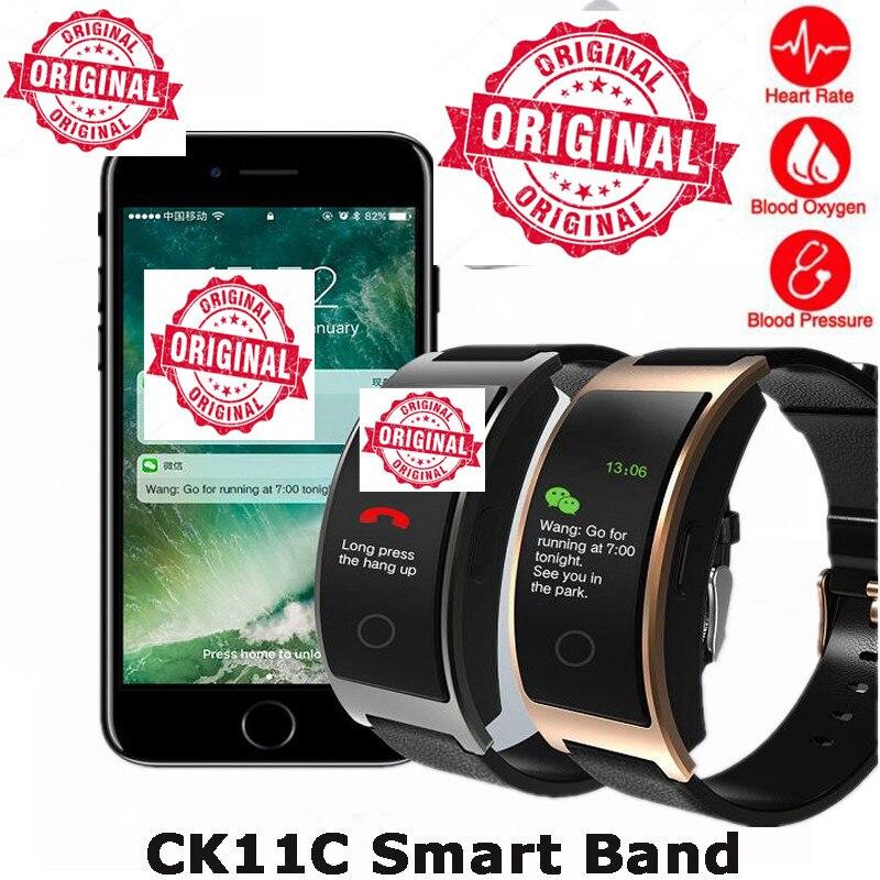 CK11C smart watch blood pressure color Heart Rate Monitor Bracelet Blood Pressure Fitness Tracker PK mi band 2 Pk Xiao mi band 3