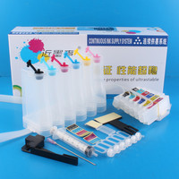 Universal 6Color Continuous Ink Supply System CISS kit with full accessaries bulk ink tank for HP EPSON EP 806 906F ep976A EP306