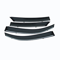 ABS Car Styling Smoke Window Sun Rain Visor Deflector Guard For Honda Civic 2016 2017 2018 Accessories 4PCs
