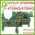 KEFU G751JT For ASUS G751J REV2.5 G751JY I7-4720HQ/I7-4710HQ GTX970M Video Card Laptop Motherboard Test 100% ORIGINAL