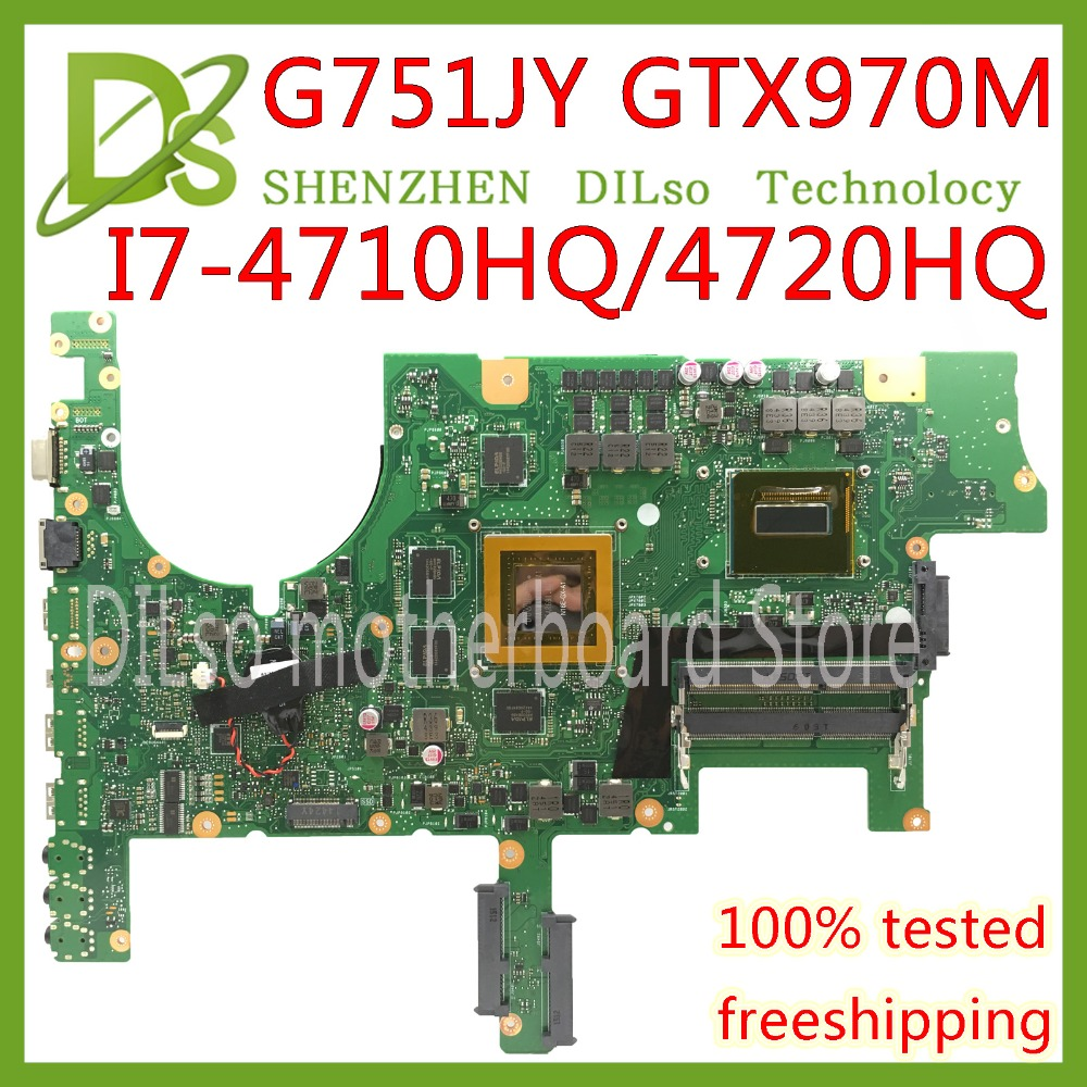 KEFU G751JT For ASUS G751J REV2.5 <font><b>G751JY</b></font> I7-4720HQ/I7-4710HQ GTX970M video card Laptop <font><b>Motherboard</b></font> Test 100% ORIGINAL image