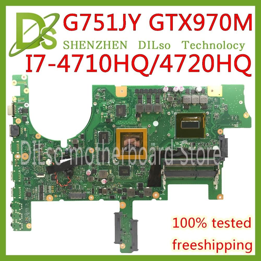 KEFU G751JT Pour ASUS G751J REV2.5 G751JY I7-4720HQ/I7-4710HQ GTX970M vidéo carte Mère D'ordinateur Portable Test 100% D'ORIGINE