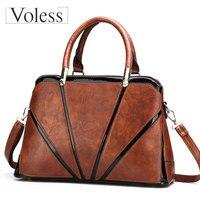 VOLESS Large Capacity Women PU Leather Bags Luxury Handbags Women Bags Designer Casual Female Patchwork Tote Bag Bolsa Feminina