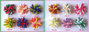 Satin Hairband Bows Hairs-Clips Flower Grosgrain Ribbon 600pcs Corker PD007 School
