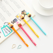 4pcs/lot 0.5mm cute Donut bows Gel Pen Promotional Gift Stationery School & Office Supply Kawai Neutral pen Stationery 4pcs lot 0 5mm cheese cat head pendant gel pen promotional gift stationery school