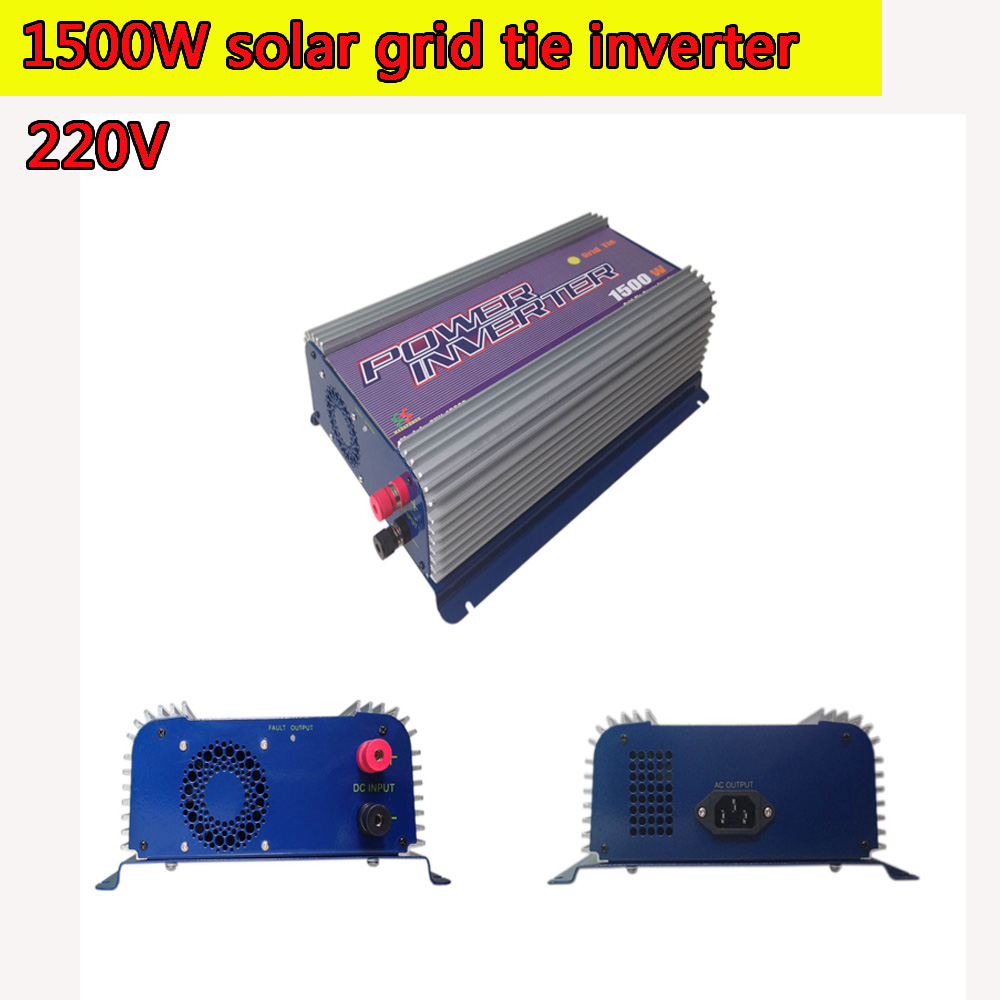 Grid Tie Inverter 1500W DC 45V-90V 220V Pure Sine Wave DC to AC Solar Power Inverter MPPT Function 45V to 90V Input High Quality 600w grid tie inverter lcd 110v pure sine wave dc to ac solar power inverter mppt 10 8v to 30v or 22v to 60v input high quality