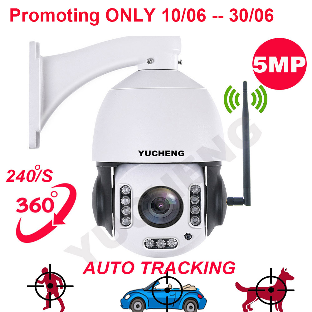 Promoção SONY 335 5MP 20x zoom auto tracking speed dome PTZ câmera IP sem fio wifi IR câmera p2p cartão sd construir no MICROFONE da câmera