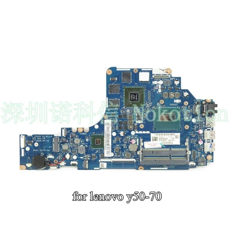 NOKOTION ZIVY2 LA-B111P  for Lenovo  Y50-70 laptop motherboard I7-4720HQ CPU nvidia GTX960M graphics 4G ботинки meindl meindl ohio 2 gtx® женские