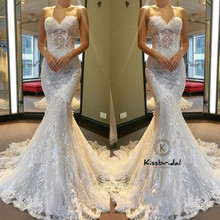 kissbridal Vintage Lace Wedding Dresses 2018 Sweetheart