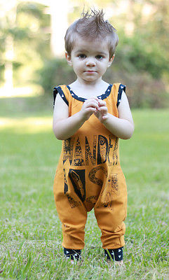 da7e0716807c Cute Newborn Baby Boys Girls Clothes Cotton Sleeveless Yellow Boho Romper  Jumpsuit Outfits Sunsuit-in Rompers from Mother   Kids on Aliexpress.com