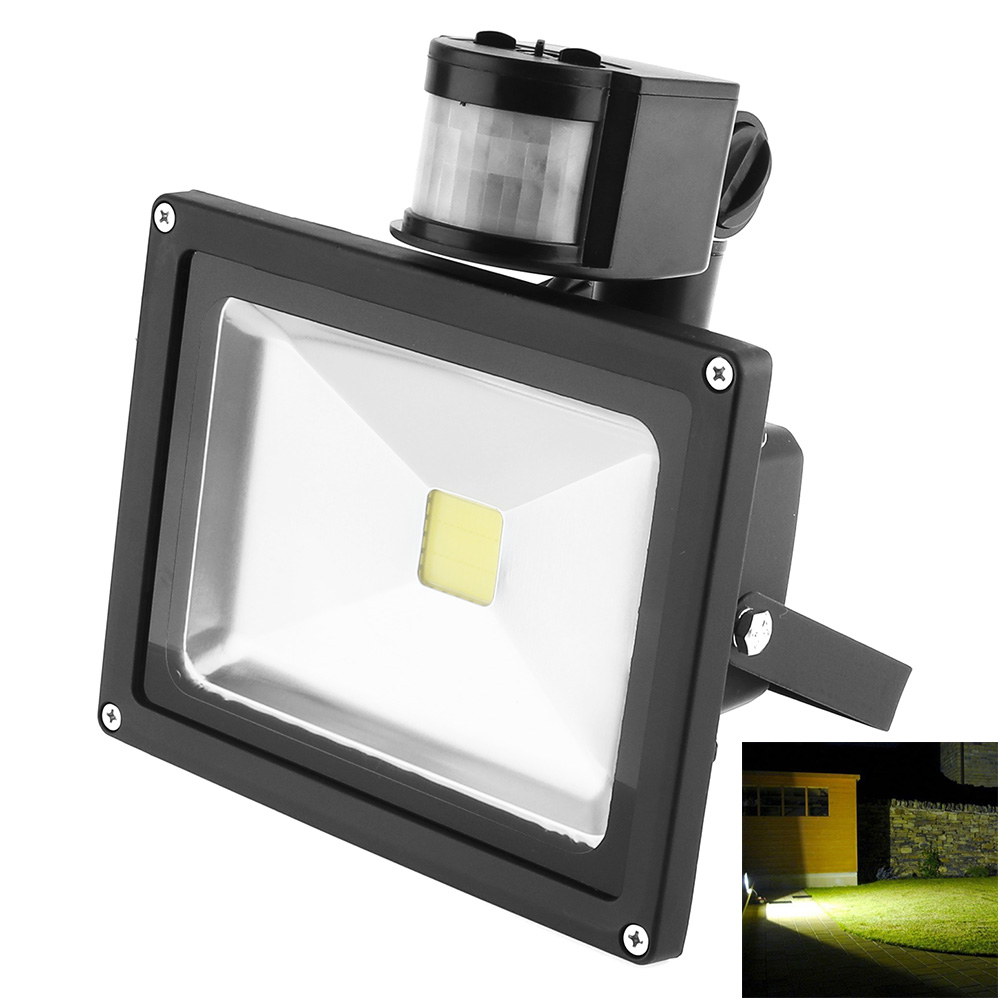 Waterproof IP65 20W 90-240V LED Flood Light PIR Infrared Body Sensor 120 Degre Beam Floodlight for Outdoor Landscape Garden