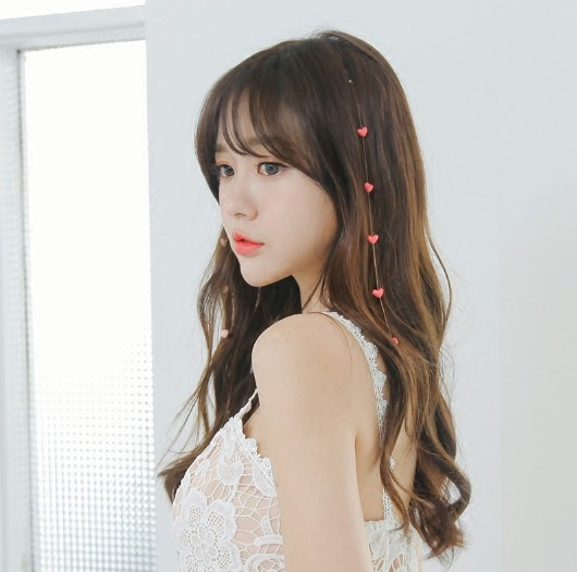 Korea Girls Sweet Heart Streamer BB Hairbrush Invisible Hair Combs Super Fairy Hairpin Hair Accessories in Women 39 s Hair Accessories from Apparel Accessories