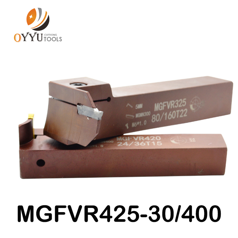 7-shaped Face Groove Cutter MGFVR 25MM MGFVR425 Double Head Processing Range 30 To 400 Carbide Insert MGMN400 MRMN Slotting Tool