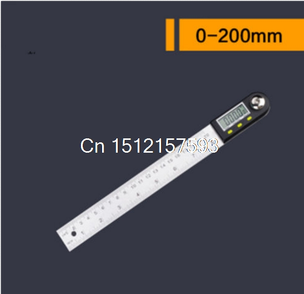 Digital Electronic Protractor Angle Finder Miter Goniometer Gauge Ruler 200mm/300mm/500mm  elecall 200mm digital protractor inclinometer goniometer level measuring tool stainless steel waterproof electronic angle gauge