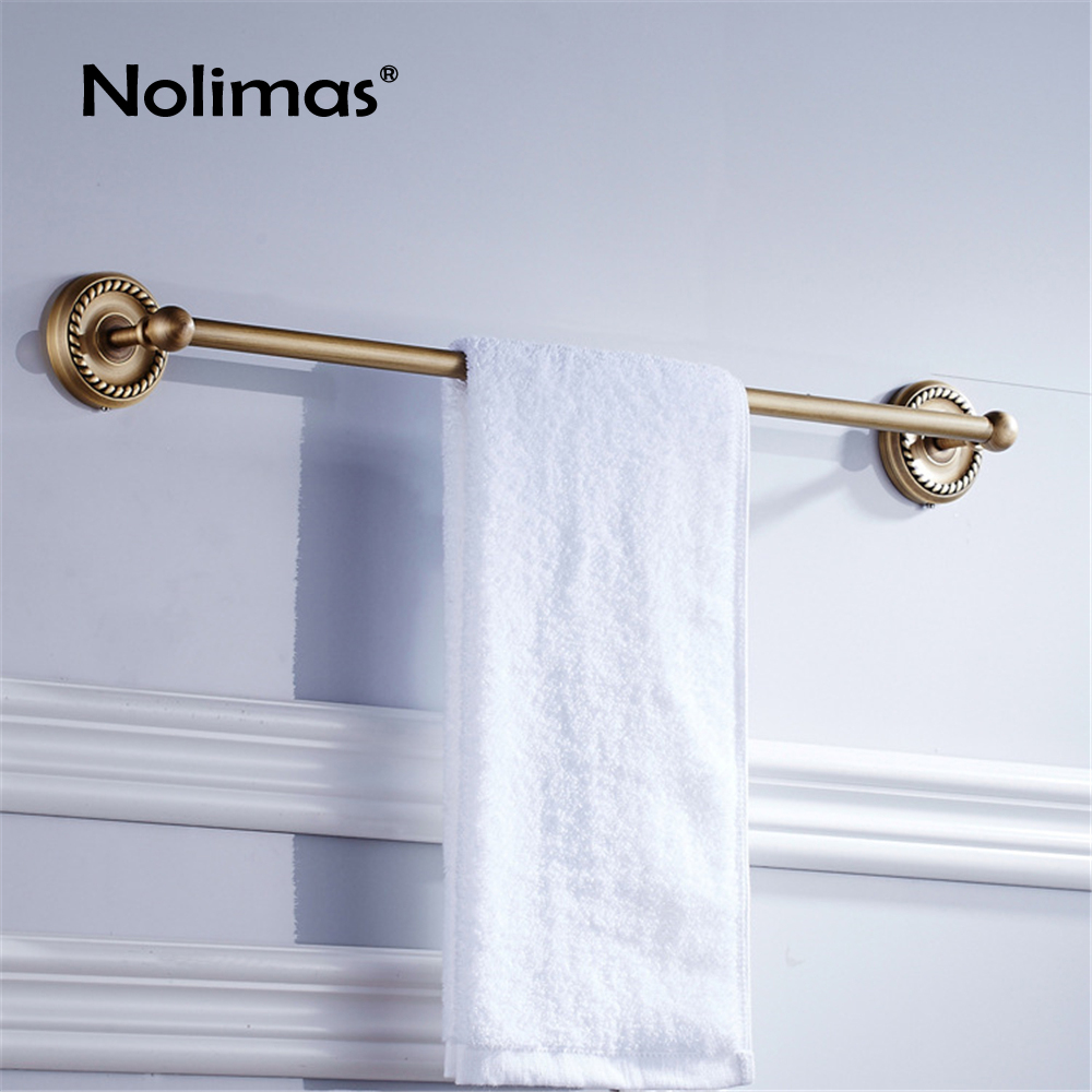Bathroom Copper Towel Bar Antique Brass Toilet Towel Holder Single Towel Rack Solid Holder And Brief Fixed Bathroom Accessory classical bathroom solid brass towel rack single towel bar bathroom accessory antique brass