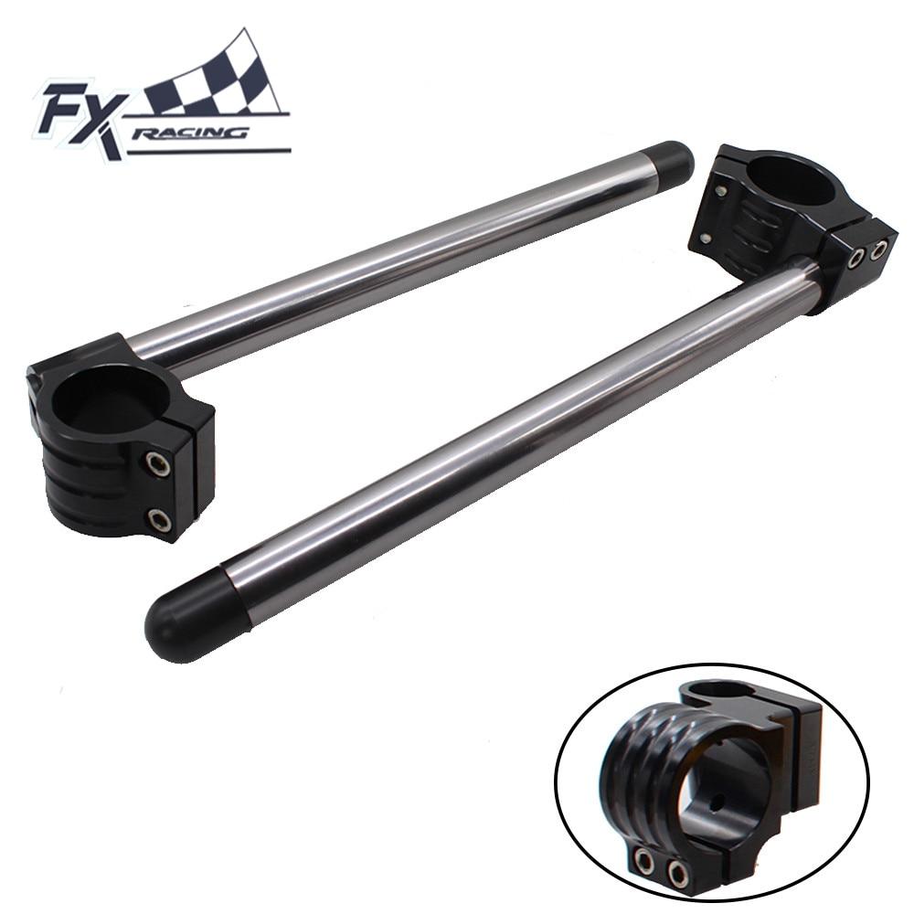 CNC Adjustable Motorcycle 50MM Clip On Ones Handlebar Fork Handle Bar For Kawasaki ZX6R ZX10R ZX14