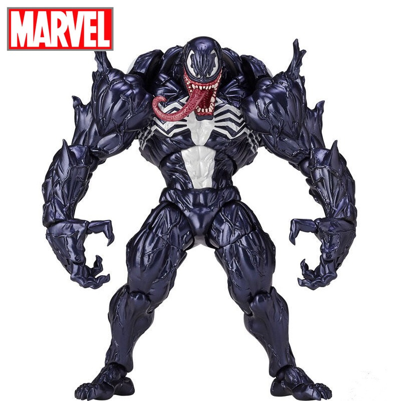 Disney Marvel 18cm Amazing Spider-Man Venom action figure model toys Anti Venom movable figurine pvc collection toys for gifts