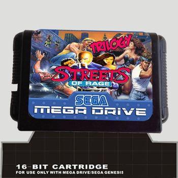 Calles De Rage Trilogia 16 Bit Md Tarjeta De Juego Para Sega Mega