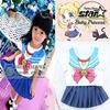 New Anime Baby Girls Pretty Soldier Sailor Moon Cosplay Costume Princess Halloween For Children Kids Sailor