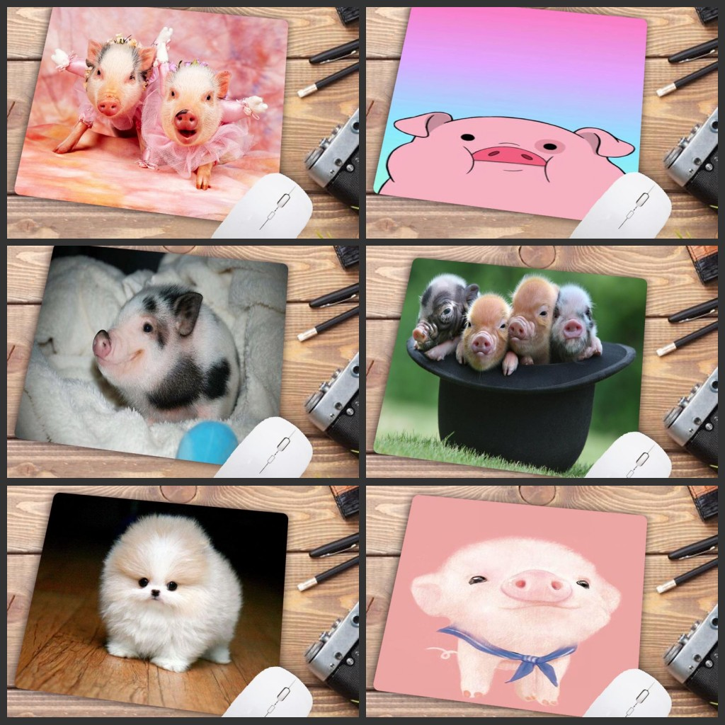Mairuige Big Promotion Beautiful Anime Cute Pig Wallpapers Silicone Pad To Mouse Game Size For 180x220x2mm Small Mousepad