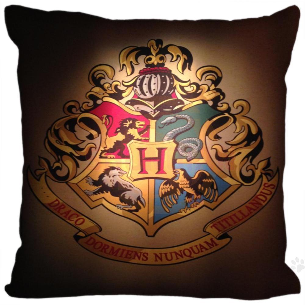 H+P#115 New Hot Custom Pillowcase hufflepuff logo #14 soft 35x35 cm (One sides) Pillow Cover Zippered SQ01003@H0115